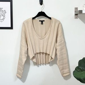 Ribbed high-low v-neck Sweater